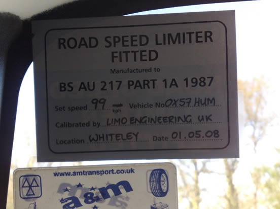 Vehicle speed limiters